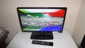 "JVC 24"" LED TV WITH BUILT-IN DVD PLAYER + FREEVIEW"