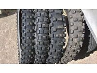 Motocross tyres - Dunlop, Pirelli and Michelin etc.