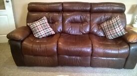 Leather Settee Suite