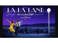 2 x tickets for LA LA Land in concert