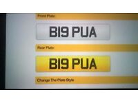 Private registration plate for the playa
