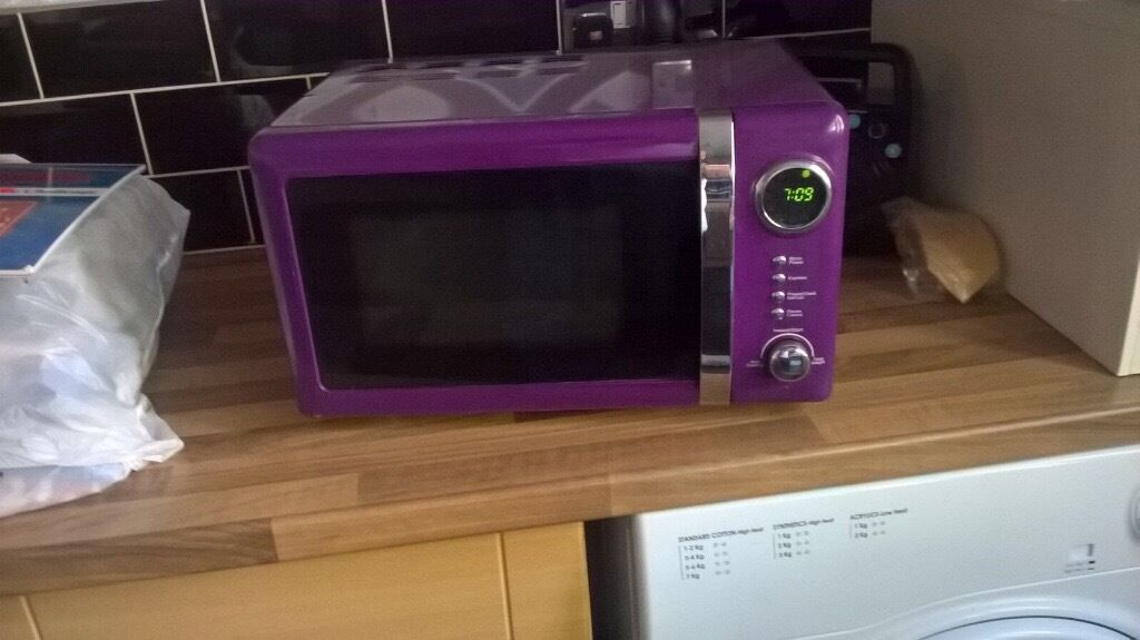 Purple Microwave Oven
