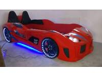 GT Turbo Car Bed in red