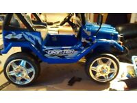 12 volt twin speed Raptor electric ride on Jeep