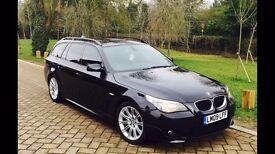 2009 BMW E61 520d M Sport Auto Estate Touring Carbon Black SAT NAV