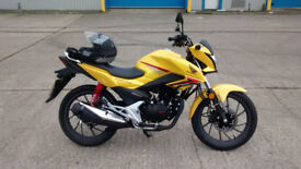 2017 Honda CB125F. Learner legal, trully low mileage and garaged from new.