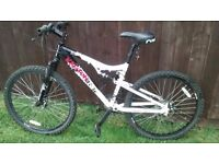 Mens Apollo Kanyon 21 gear full suspension mountain bike