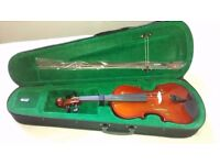 4/4 full size Windsor Violin and tuner W/Argos product care