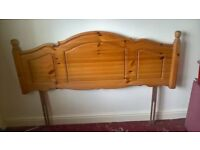 Pine Headboard for a double bed