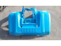 Mud Covers for a Yamaha 360 Quad Bike - blue in colour