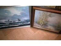 2 x lovely oil paintings