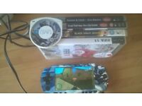 psp with 5 games and charger