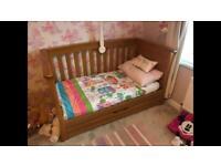 Mamas & Papas solid oak cot bed