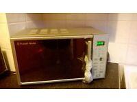 Russell Hobbs Digital Microwave - Silver - 10 months old