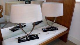 Beautiful & Stylish pair of Modern Chrome RV Astley Arianna Twin Bulb Table Lamp. RRP £256 per lamp