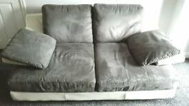Two Seater Sofa and Designer Swivel Chair