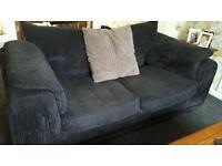 Black 2 and 3 seater sofas