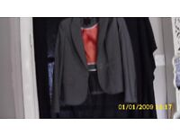 jasper conran collectible grey rib affect jacket with red lining