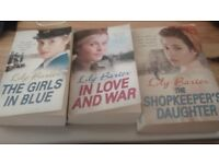 lily baxter, the girls in blue, in love and war, the shopkeepers daugther, books
