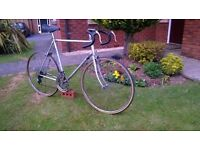 Retro Road Racing Bike made with Quality Steel..Large Frame for Tall Man..10 gears..Drop Handlebars.