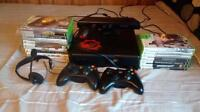 X-box 360 with games