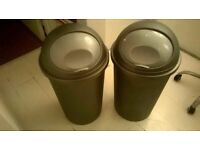 Two kitchen bins 75cm tall and 37cm wide perfect central London bargain