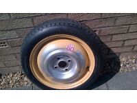 Honda Civic 1997- Space saver Wheel and Tyre T135/70D 15