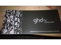 nearly new ghd IV hair straighteners, excellent condition, only used four times. still in box vgc