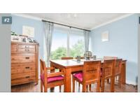 Beautiful solid teak table and chairs