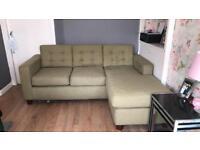 Lime green corner sofa