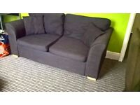2 x Double Sofa Beds Brown Used