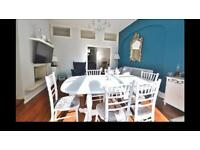 8 seater extendable dining table - style is shabby chic