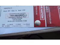 2 X TAYLOR SWIFT REPUTATION STADIUM TOUR TICKETS - JUNE 8TH- ETIHAD STADIUM - MANCHESTER