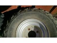 Quad wheels.n tyres