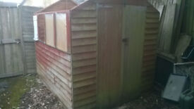 used apex style garden shed, 7.5ft x 6ft ***SOLD***