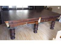 8ft x 4ft snooker pool/ dining table mahogany solid slate