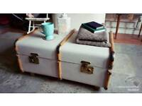 Beautiful Vintage Bentwood steamer trunk