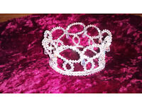 brides/brides maid Tiara never worn, gorgeous crystal droplets £10 still in box