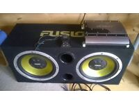 """Mutant NW280SP and twin 12"""" fusion subwoofer."""