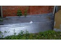 8ft / 2.4m Galvanised Metal Corrugated Roofing Sheet Cladding Cover 2.44m x 1m