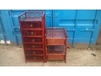 Matching drawers and bedside table. Can deliver free