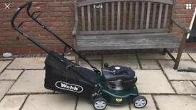 Webb petrol lawnmower