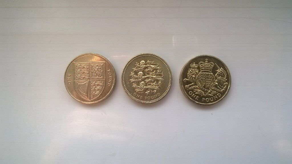 old style £1 coins various mintages