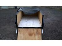 FULLY REFURBISHED CAR TRAILER 750 KG carrying has removable drop down back door