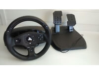 Trustmaster T80 racing wheel and pedals