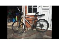 Men's Carrera Mountain Bike, 21 bears, suspension,