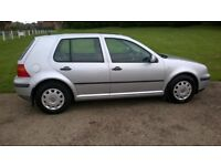 Golf MK 4, One owner from new, Silver 1.6 Golf – S, manual, 5 door, petrol. Full service history