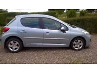 Peugeot 207 1.4 Sport, 5 door hatchback with private number plate first registered 2009.
