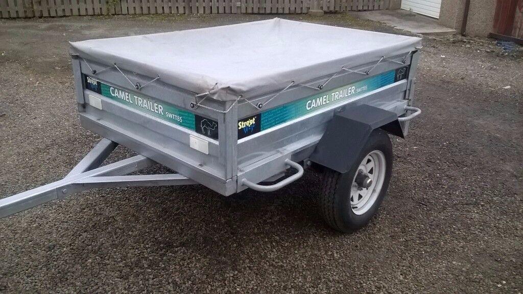 CAR TRAILER CAMEL GALVINIZED 750 KG 5FT X3.6 FT FOLD DOWN BACK DOOR