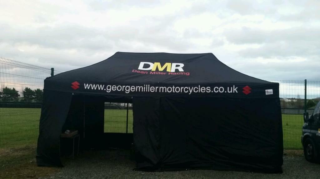 6mx3m large motor sport race tent gazebo awning price drop in omagh county tyrone gumtree. Black Bedroom Furniture Sets. Home Design Ideas